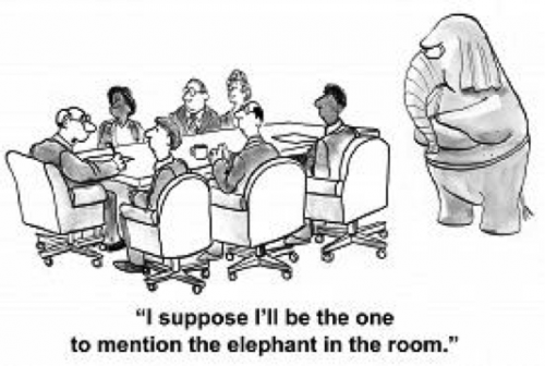 Cartoon Elephant in the room